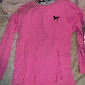 love pink sweatshirt/crew style